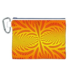 Background Brush Particles Wave Canvas Cosmetic Bag (l)