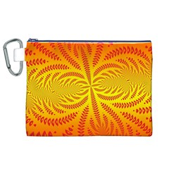 Background Brush Particles Wave Canvas Cosmetic Bag (XL)