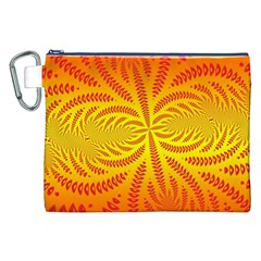 Background Brush Particles Wave Canvas Cosmetic Bag (xxl)