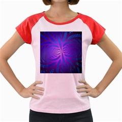 Background Brush Particles Wave Women s Cap Sleeve T-Shirt