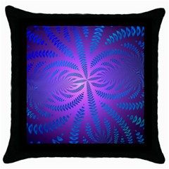 Background Brush Particles Wave Throw Pillow Case (black)