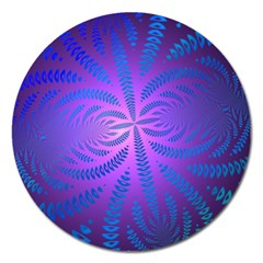 Background Brush Particles Wave Magnet 5  (Round)