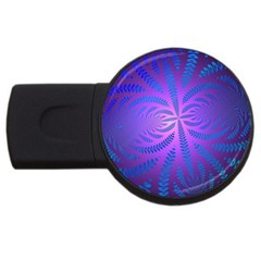 Background Brush Particles Wave Usb Flash Drive Round (2 Gb)