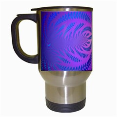 Background Brush Particles Wave Travel Mugs (White)