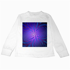 Background Brush Particles Wave Kids Long Sleeve T-Shirts