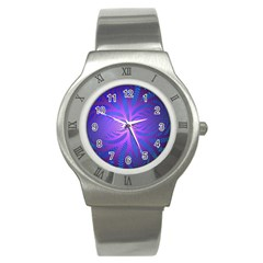 Background Brush Particles Wave Stainless Steel Watch