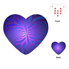 Background Brush Particles Wave Playing Cards (heart)