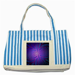 Background Brush Particles Wave Striped Blue Tote Bag