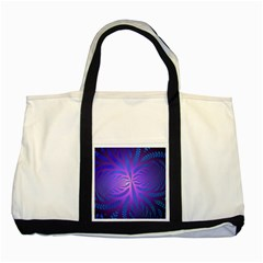 Background Brush Particles Wave Two Tone Tote Bag