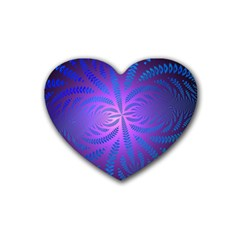 Background Brush Particles Wave Rubber Coaster (heart)