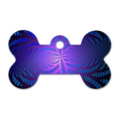 Background Brush Particles Wave Dog Tag Bone (two Sides)