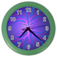 Background Brush Particles Wave Color Wall Clocks
