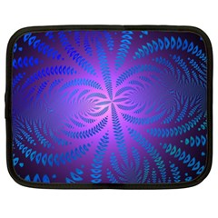 Background Brush Particles Wave Netbook Case (large)