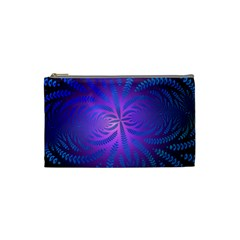 Background Brush Particles Wave Cosmetic Bag (Small)