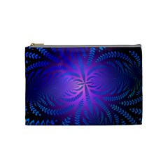 Background Brush Particles Wave Cosmetic Bag (medium)
