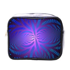 Background Brush Particles Wave Mini Toiletries Bags
