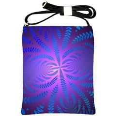 Background Brush Particles Wave Shoulder Sling Bags