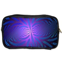 Background Brush Particles Wave Toiletries Bags 2 Side