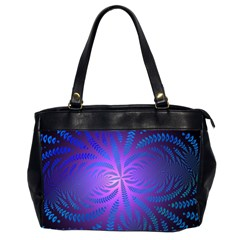 Background Brush Particles Wave Office Handbags (2 Sides)