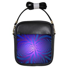 Background Brush Particles Wave Girls Sling Bags