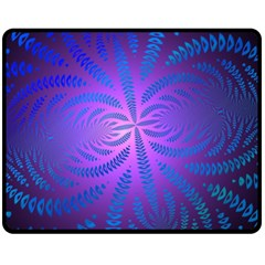Background Brush Particles Wave Fleece Blanket (medium)