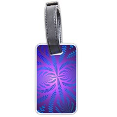 Background Brush Particles Wave Luggage Tags (one Side)