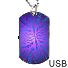 Background Brush Particles Wave Dog Tag Usb Flash (one Side)