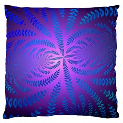 Background Brush Particles Wave Large Cushion Case (two Sides)