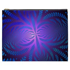 Background Brush Particles Wave Cosmetic Bag (xxxl)