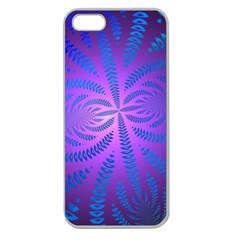 Background Brush Particles Wave Apple Seamless Iphone 5 Case (clear)