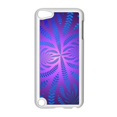 Background Brush Particles Wave Apple iPod Touch 5 Case (White)