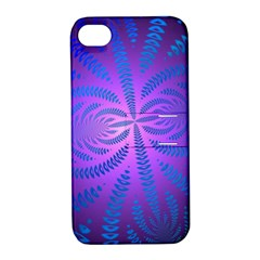 Background Brush Particles Wave Apple Iphone 4/4s Hardshell Case With Stand