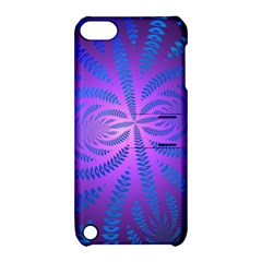 Background Brush Particles Wave Apple Ipod Touch 5 Hardshell Case With Stand