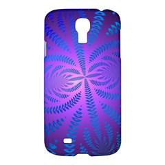 Background Brush Particles Wave Samsung Galaxy S4 I9500/i9505 Hardshell Case