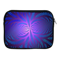 Background Brush Particles Wave Apple Ipad 2/3/4 Zipper Cases