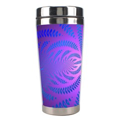 Background Brush Particles Wave Stainless Steel Travel Tumblers