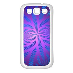 Background Brush Particles Wave Samsung Galaxy S3 Back Case (white)