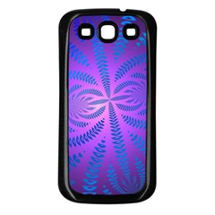 Background Brush Particles Wave Samsung Galaxy S3 Back Case (Black)