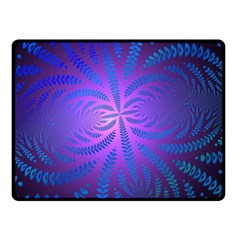 Background Brush Particles Wave Double Sided Fleece Blanket (small)