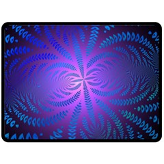 Background Brush Particles Wave Double Sided Fleece Blanket (large)