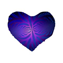 Background Brush Particles Wave Standard 16  Premium Flano Heart Shape Cushions