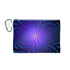 Background Brush Particles Wave Canvas Cosmetic Bag (m)