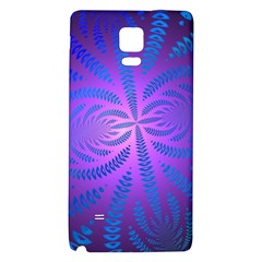 Background Brush Particles Wave Galaxy Note 4 Back Case