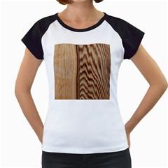 Wood Grain Texture Brown Women s Cap Sleeve T