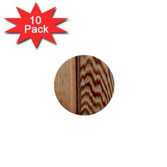 Wood Grain Texture Brown 1  Mini Buttons (10 Pack)