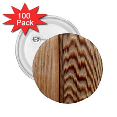 Wood Grain Texture Brown 2.25  Buttons (100 pack)