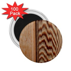 Wood Grain Texture Brown 2.25  Magnets (100 pack)