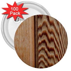 Wood Grain Texture Brown 3  Buttons (100 Pack)