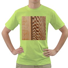 Wood Grain Texture Brown Green T Shirt