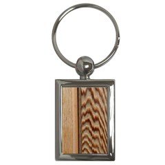 Wood Grain Texture Brown Key Chains (rectangle)